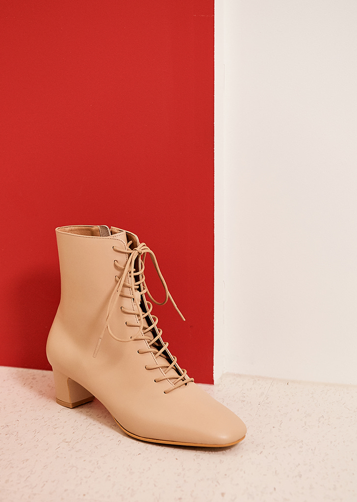 mc 002 lace up boots (beige)