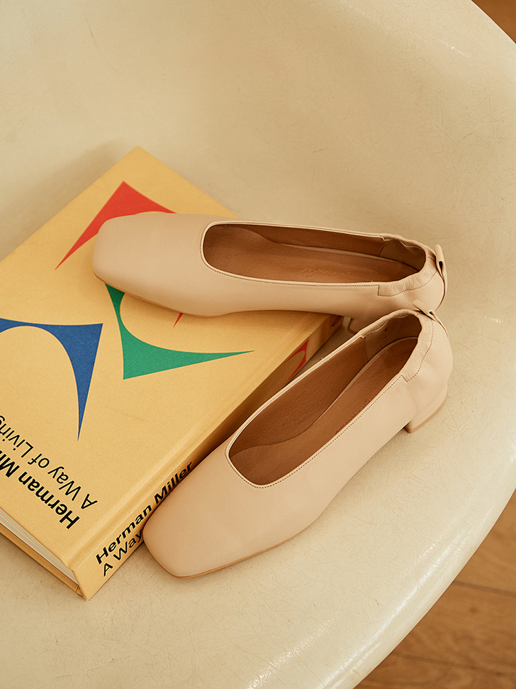 mc 004 square toe mid pumps (beige)